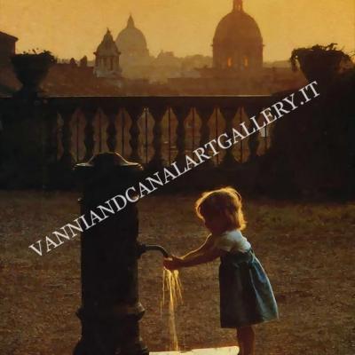 Bambina al Pincio (Roma)