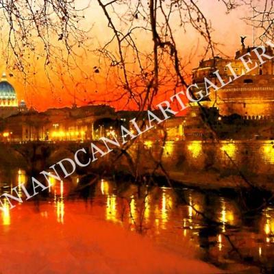 San Pietro e Castello al tramonto