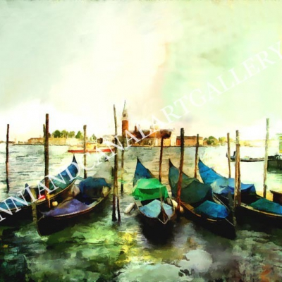 Laguna e gondole (Venezia)