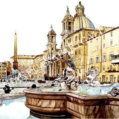 Piazza Navona e Fontana del Nettuno