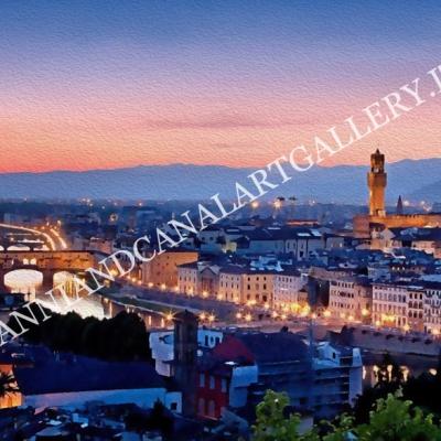 Panorama di notte (Firenze)