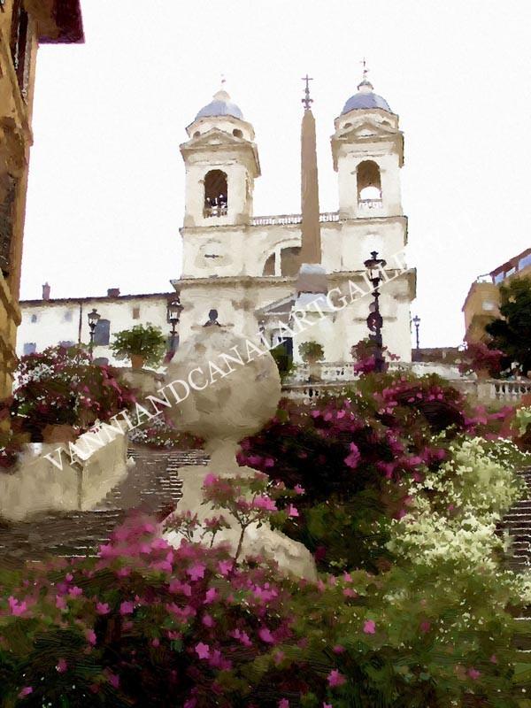 Piazza di Spagna e fiori