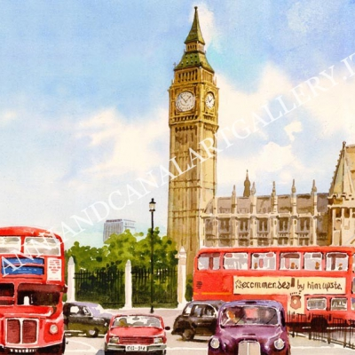 London Big Ben and Buses