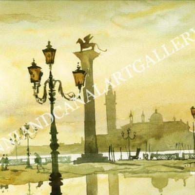 Piazza San Marco in un giorno di pioggia