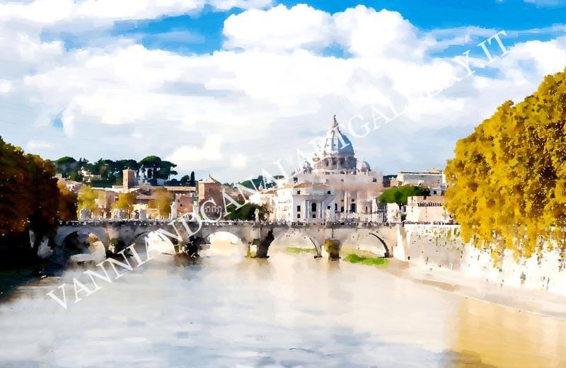 San Pietro con ponte e Tevere