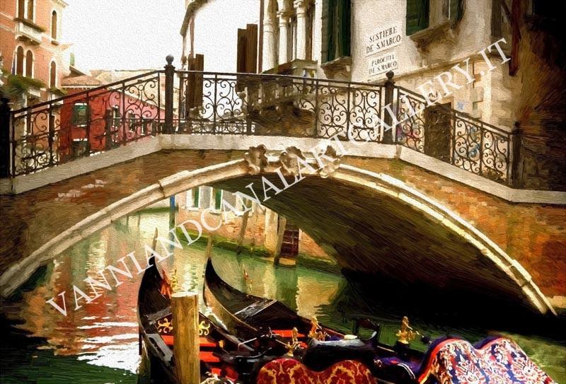 Venezia con ponte e gondole