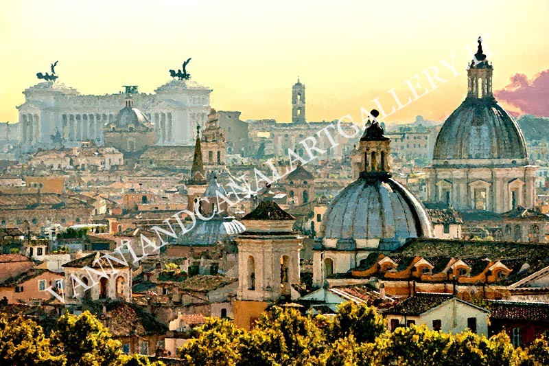Panorama dei tetti di Trastevere (Roma)