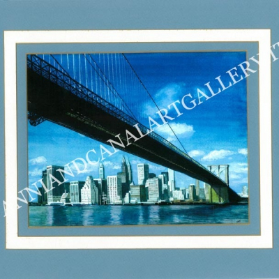 New York with paper frame
