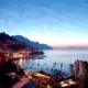 Panorama Amalfi di notte