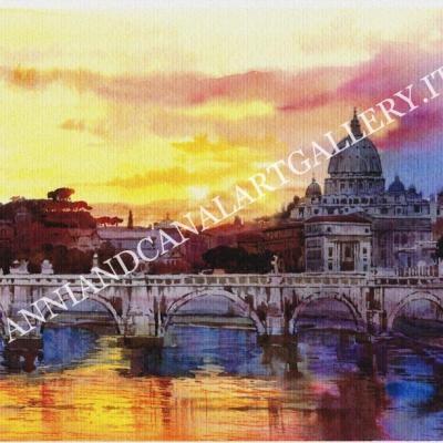 San Pietro al tramonto (Roma)