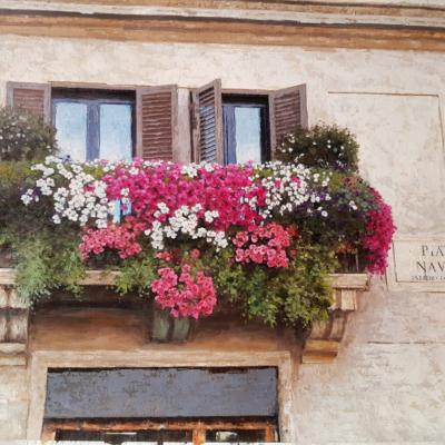 Roma balcone fiorito