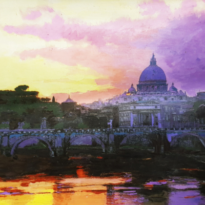 Roma San Pietro al tramonto
